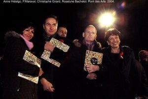 Opening: Anne Hidalgo, Pierre Maraval, Christophe Girard, Roselyne Bachelot.