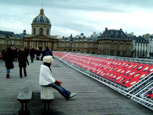 Pont des Arts exhibition.
