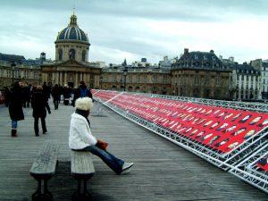 Pont des Arts exhibition.