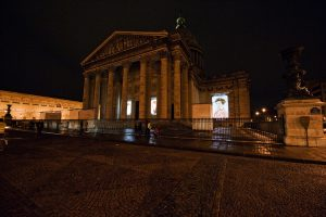 Pantheon video projection