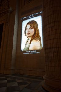 Pantheon video projection. Roxane Simeone.