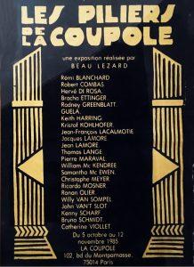 LES PILIERS DE LA COUPOLE group show, exhibition poster.